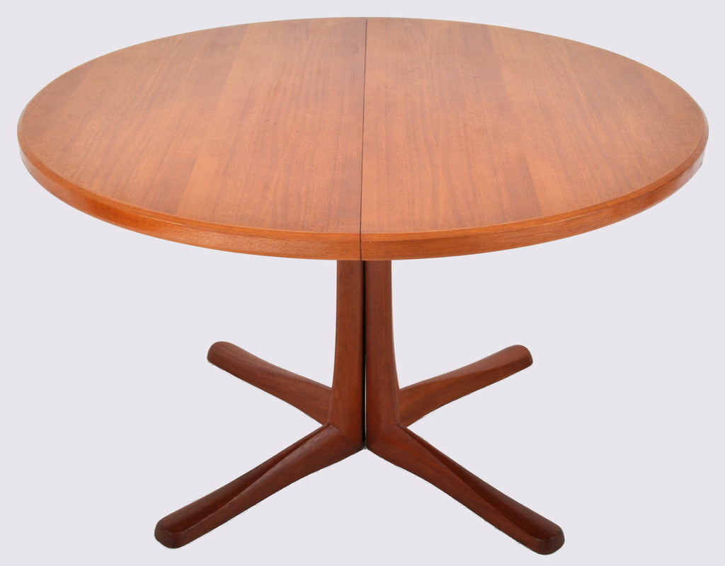 Mid-Century Modern Danish Style Teak Dining Table with Twin Leaves by McIntosh, 1960s