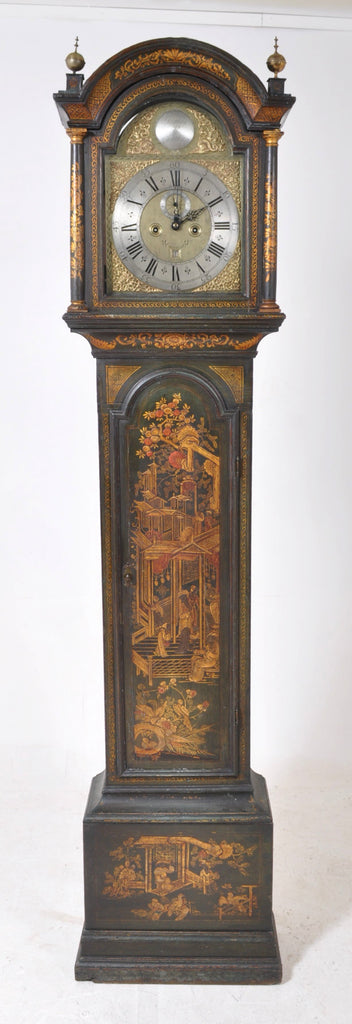 Antique Queen Anne 8-Day Longcase Grandfather Clock by James Jordain, Chatham, Circa 1710