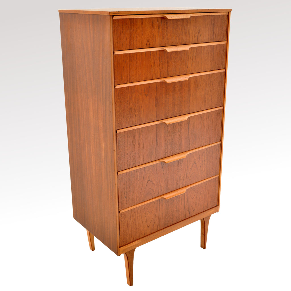 Mid-Century Modern Danish Style Teak Chest of Drawers / Dresser by Austinsuite, 1960s