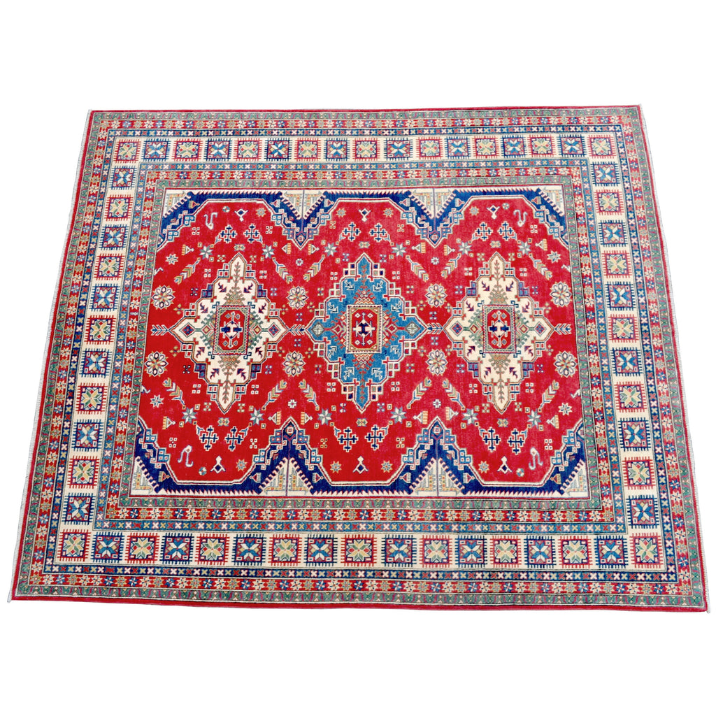 Caucasian Kazak Vegetable Dyed Tribal Carpet
