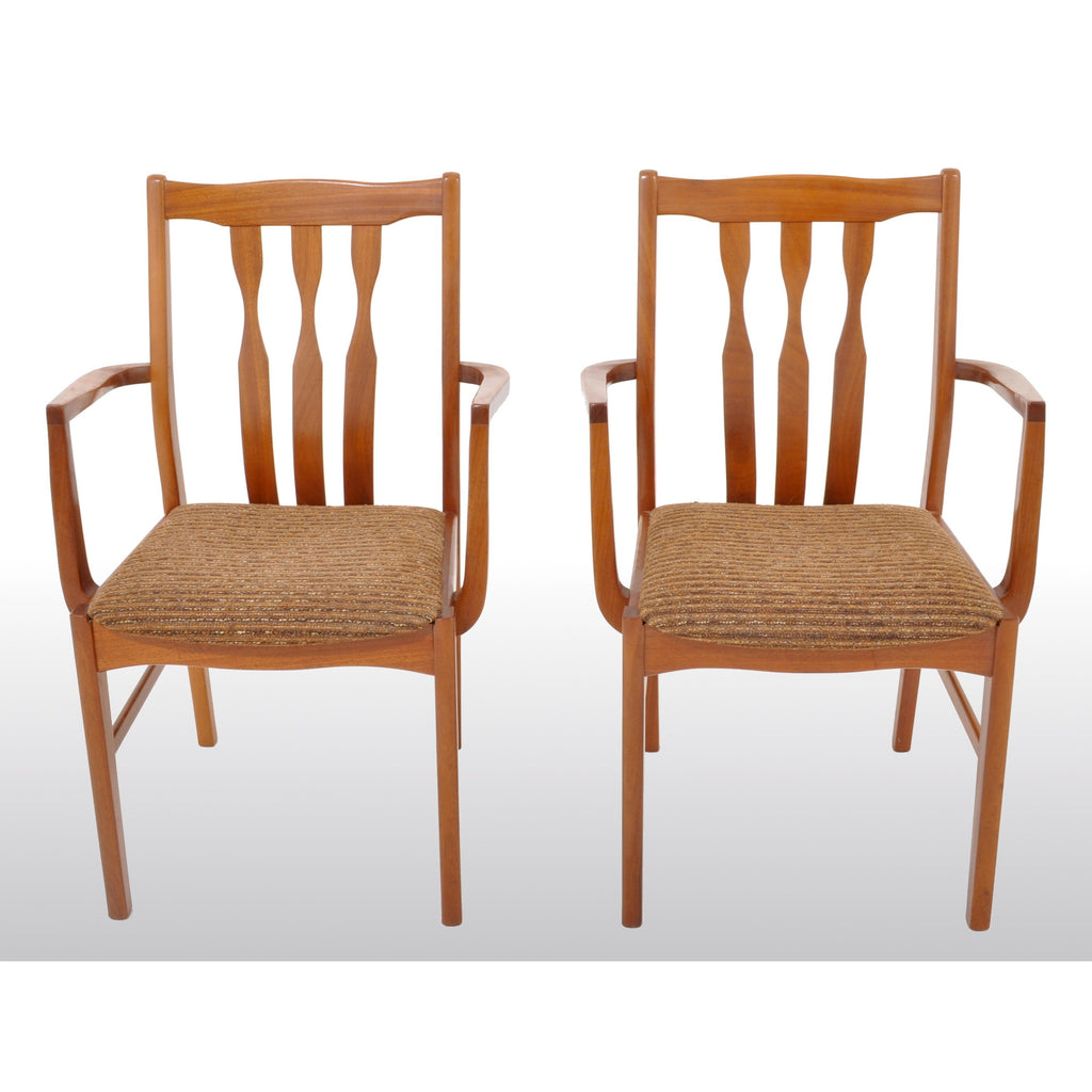Pair of Mid-Century Modern Captain's/Arm Chairs in Teak, 1960s