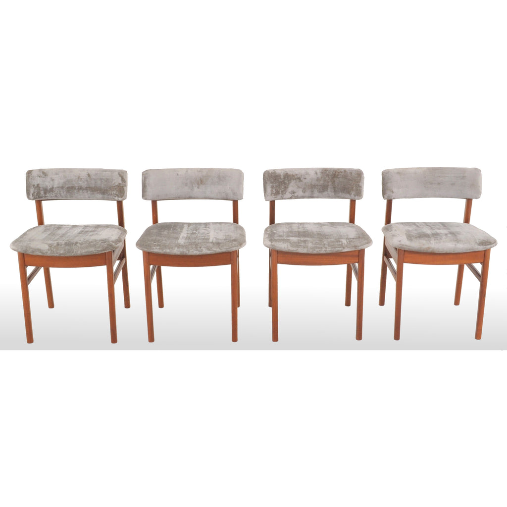Set of 4 Danish Modern Teak Dining Chairs, 1960s