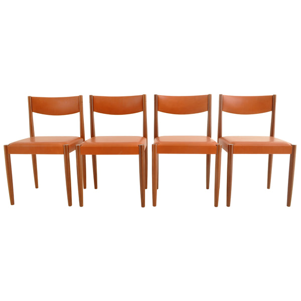 Set of 4 Danish Mid-Century Modern Teak Dining Chairs, 1960s