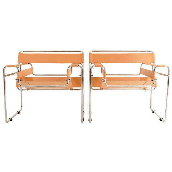 Pair of Vintage Wassily Chairs by Marcel Breuer and Produced by Cassina of Italy, 1980s