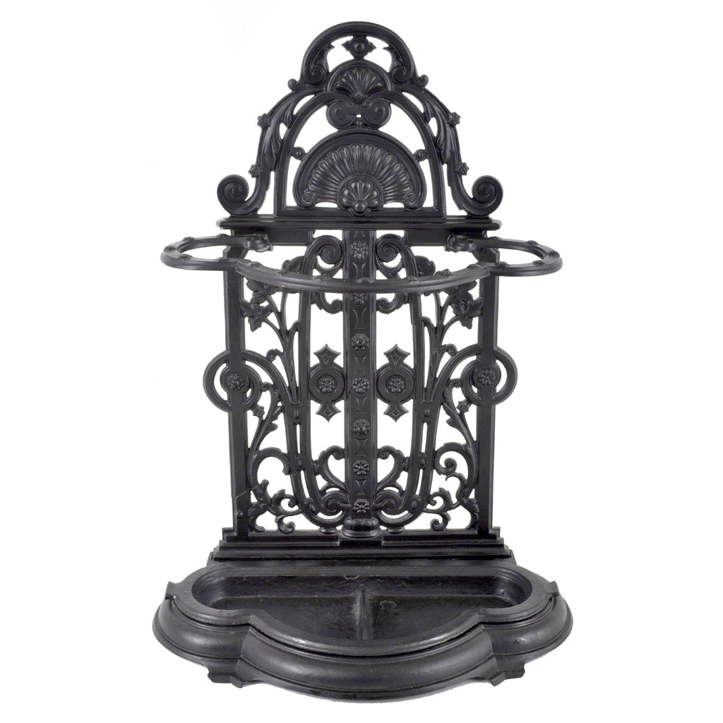 Antique English Cast Iron Umbrella / Hall-Stand by Coalbrookdale, Dated 1854