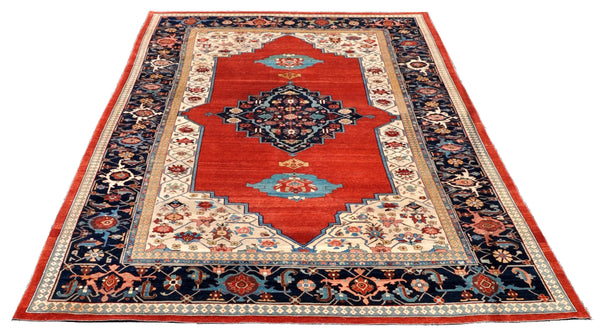 Antique Palace-size Vegetable Dyed Turkish Carpet