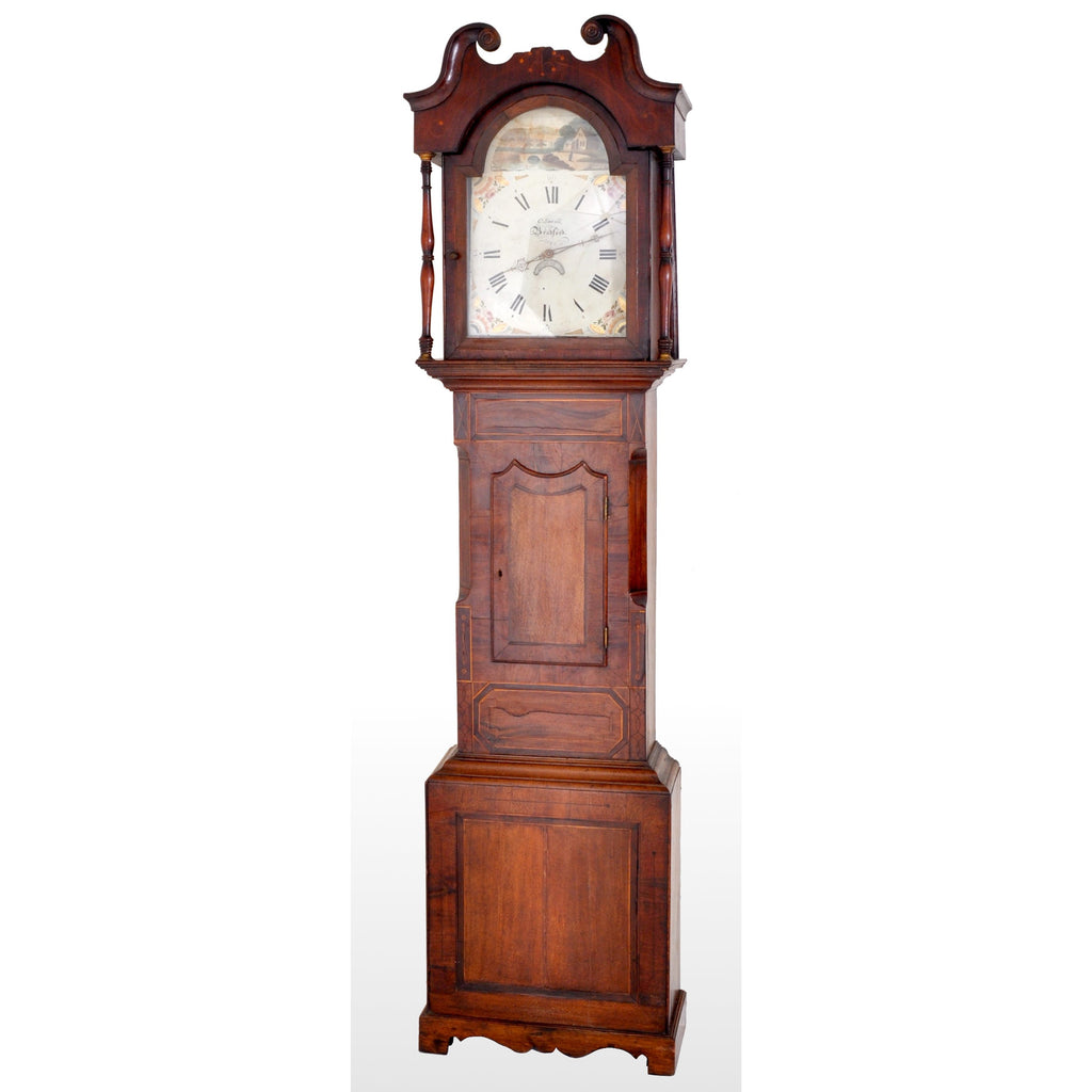 Antique English 8-Day Longcase/Grandfather Clock by C. Sewell Bradford, circa 1820