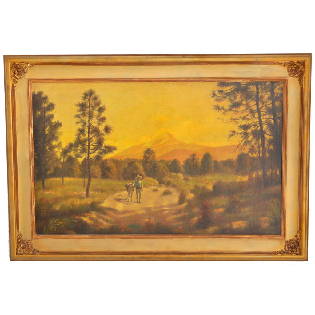 Antique American Oil on Canvas by Charles Holloway (American, 1859-1941), Circa 1915