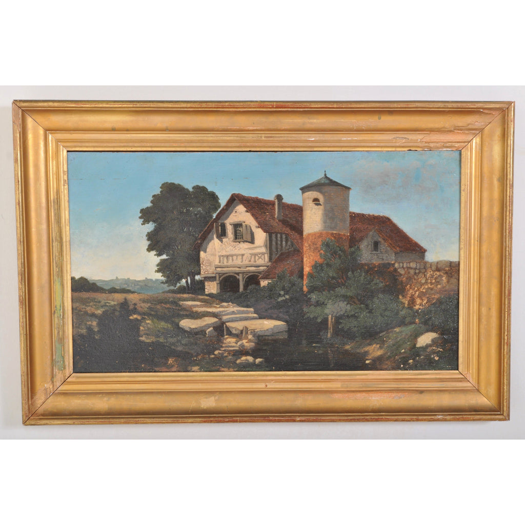 Antique French Oil on Panel of Montpelier, Circa 1890