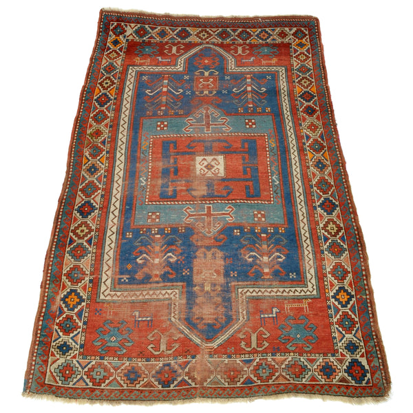 Antique Caucasian Kazak Prayer Rug, Circa 1900