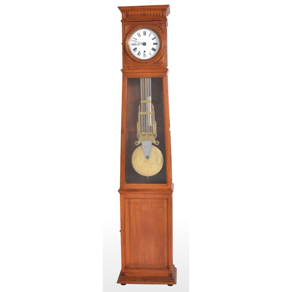 Antique French 8-Day Longcase/Grandfather Comtoise Clock, circa 1800