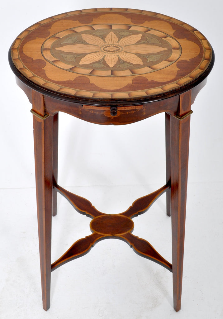 Antique Edwardian Sheraton Inlaid Marquetry Table/Wine Stand, Circa 1900