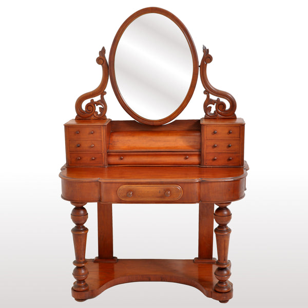 "Antique Walnut ""Duchess"" Dresser Swing Mirror Vanity Dressing Table, circa 1870"
