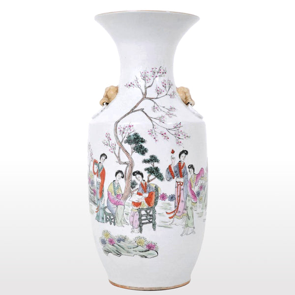 Large Antique Chinese Qing Dynasty Porcelain Vase, Circa 1900
