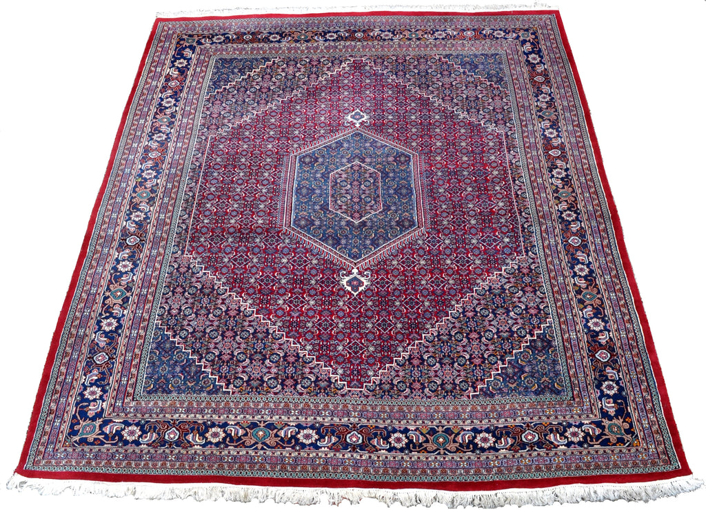 "Semi-Antique Persian Tabriz Carpet (10' 9"" long X 8' 9"" wide)"