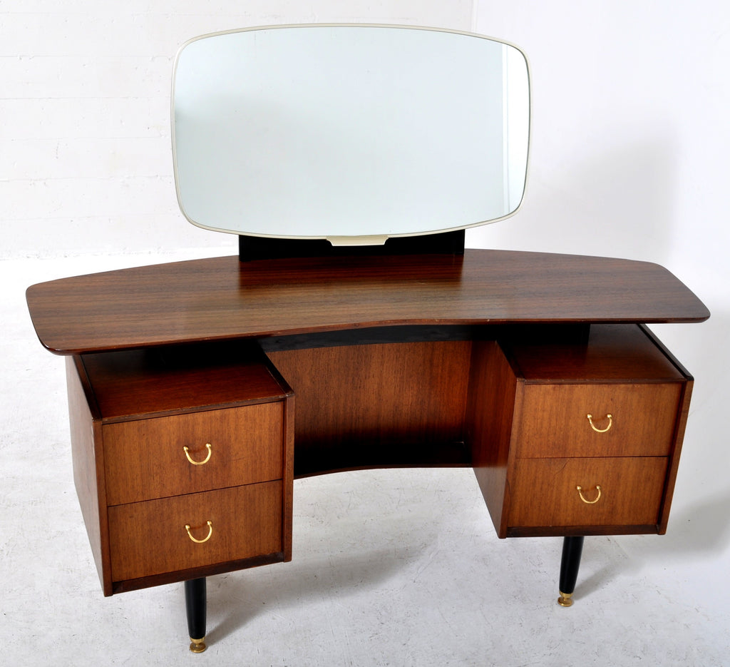 Mid-Century Modern Walnut Mirrored 'Boomerang' Dressing Table by G Plan, 1960s