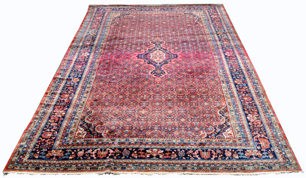 "Semi-Antique Palace Size Persian Kashan Carpet (17' 8"" long X 12' 1"" wide)"