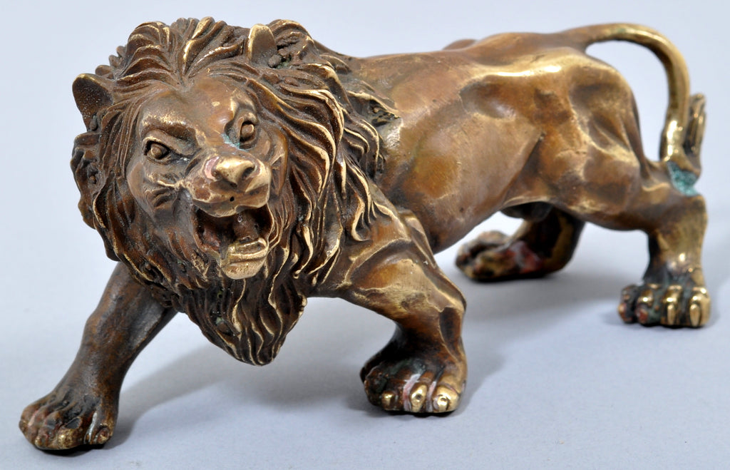 Antique Cast Bronze Figure/Statue/Sculpture of a Lion, Circa 1850