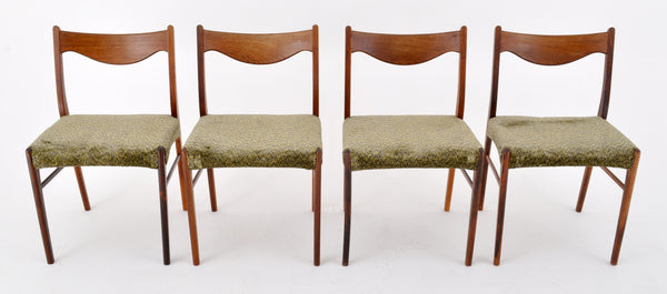 Set of 4 Danish Style Mid-Century Modern Dining Chairs, 1960s