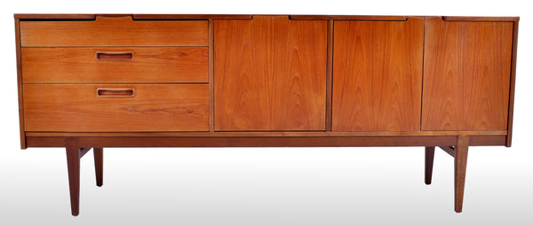 Mid-Century Modern Danish Style Teak Credenza by Nathan Furniture, 1960s