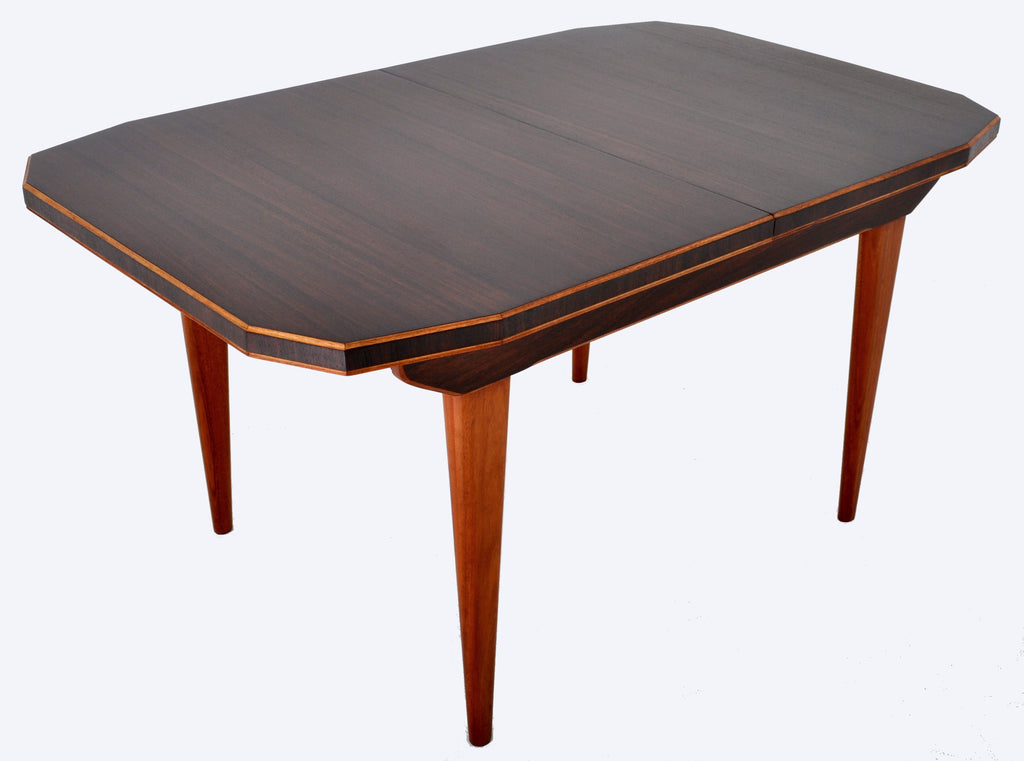 "Mid-Century Modern Dining Table in Walnut with ""Butterfly"" Leaf, 1960s"