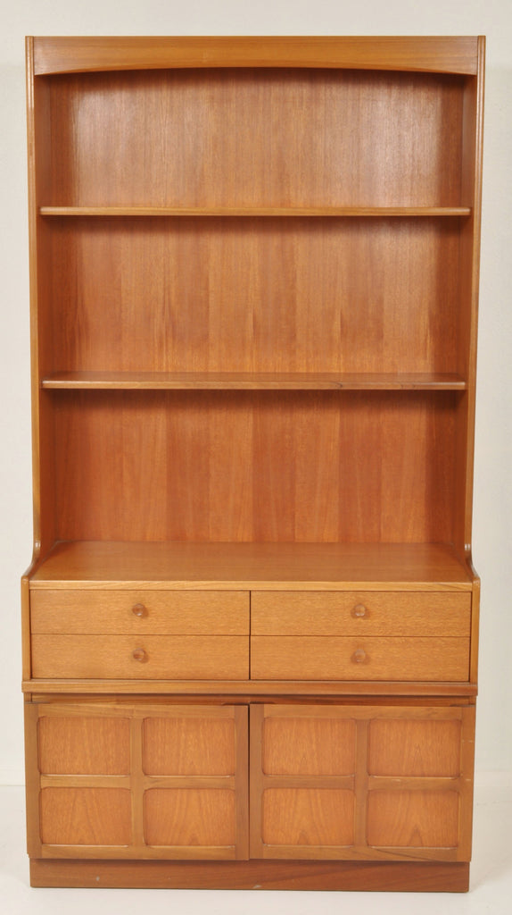 Mid-Century Modern Danish Teak Dresser/Wall Unit/Bookcase/Hutch by Nathan Furniture, 1960s