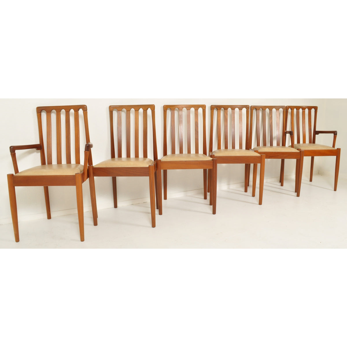 Set Of 6 Mid Century Modern Danish Teak Dining Chairs 1960s Bloomsbury Fine Art Antiques