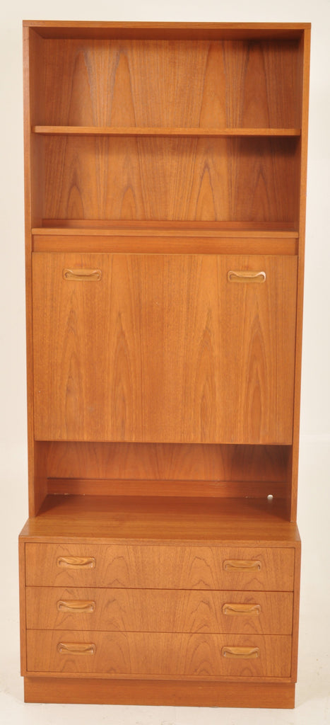 Mid-Century Modern Danish Teak Bookcase/Secretary by G Plan, 1960s
