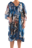 La Mouette Women's Plus Size Digital Print Chiffon Dress
