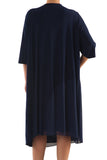 La Mouette Women's Plus Size Chiffon Dress with Sash