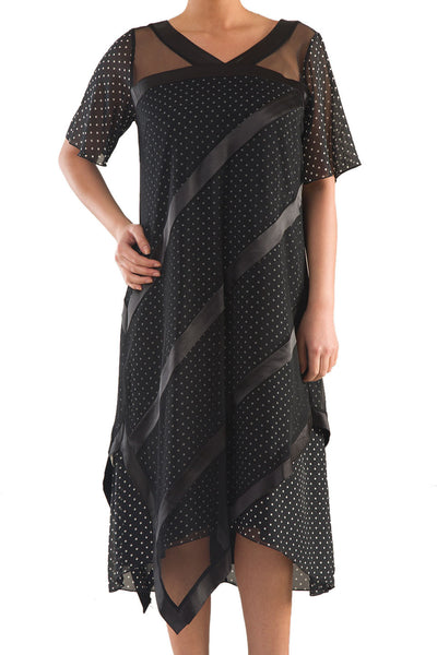La Mouette Women's Plus Size Polka Dot Dress