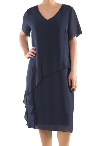 La Mouette Women's Plus Size Bias-Cut Cocktail Dress