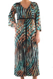 La Mouette Women's Plus Size Kimono Dress with Print