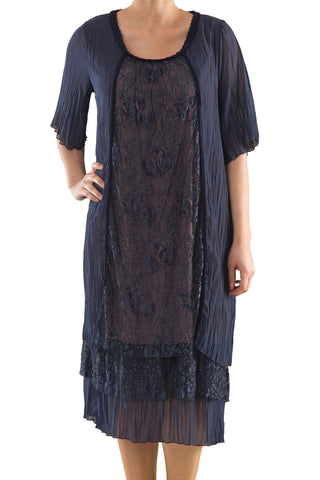 La Mouette Women's Plus Size Summer Dress with Lace
