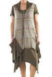 La Mouette Women's Plus Size Dress with Layers & Pockets