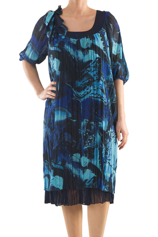La Mouette Women's Plus Size Crinkled Dress with Print
