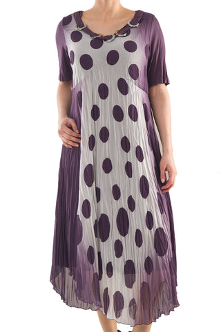 La Mouette Women's Plus Size Dress with Polka Dots