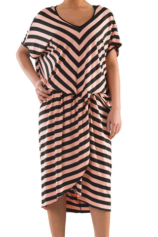 La Mouette Women's Plus Size Stripe-Crazy Wrap Dress