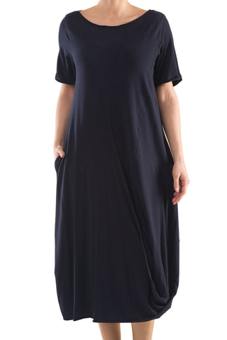 La Mouette Women's Plus Size Tulip Dress with Drape