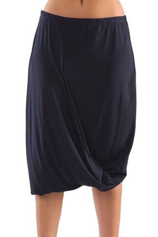 La Mouette Women's Plus Size Casual Tulip Skirt with Drape