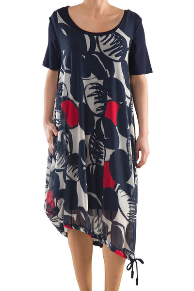 La Mouette Women's Plus Size Dress with Summery Print
