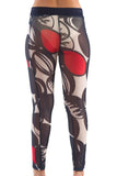 La Mouette Women's Plus Size Sheer Summery Print Leggings