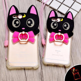 Black Cat LED Light Up Phone Case