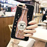 Drink Bottle Quicksand Liquid Glitter Case