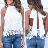 Backless Bow Sleeveless Cami Top