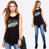 Free Spirit Feather Tank Top