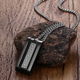 Greek Key Black Men Necklace