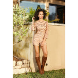 Beaded Honey Short Style Romper