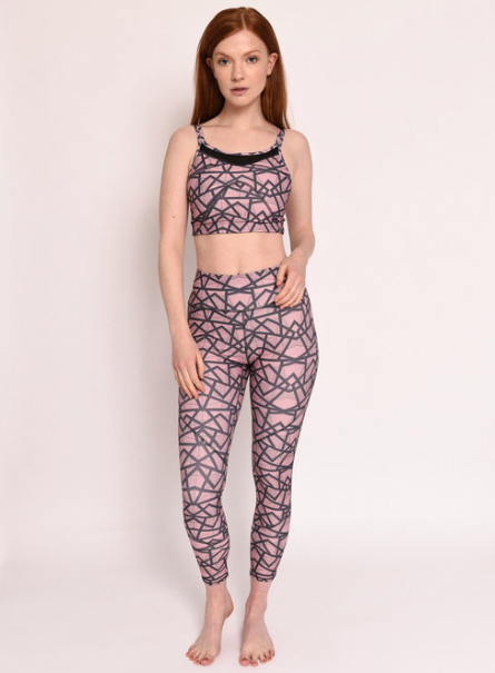 DOT. DASH PINK GEO LEGGING