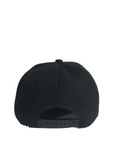 JUST DADDY BLACK FLAT WING HAT WITH EMBROIDERED LOGO